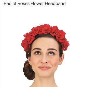 Frida red rose headband
